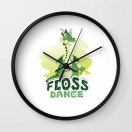 Floss Dance Move Dragon Wall Clock