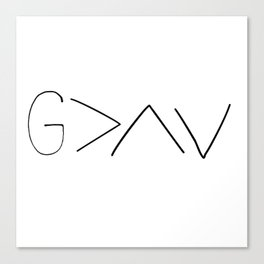 God is greater v2 Canvas Print
