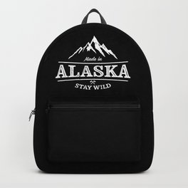 MADE IN ALASKA STAY WILD VINTAGE Backpack
