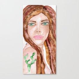 Cactus woman Canvas Print