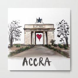 I love Accra  Metal Print