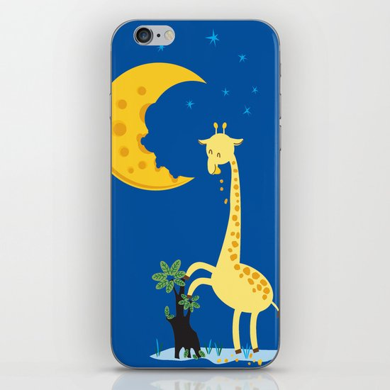 The Delicious Moon Cheese iPhone & iPod Skin