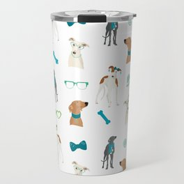 Sighthounds Pattern Green Travel Mug
