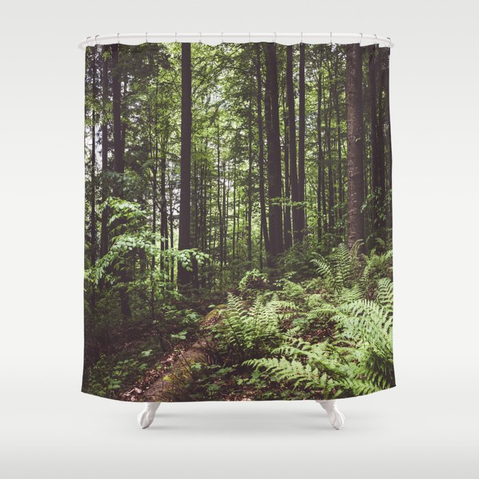 Woodland - Landscape and Nature Photography Shower Curtain