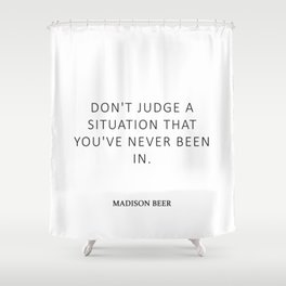 Don't judge - Beer Shower Curtain