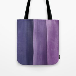 Purple Gradient on Wood Tote Bag