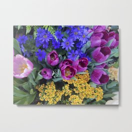 Floral Spectacular: Blue, Plum and Gold - Olbrich Botanical Gardens Spring Flower Show, Madison, WI Metal Print