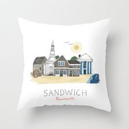 Sandwich, MA Throw Pillow