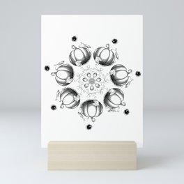 Black on White Pumpkin Mandala Mini Art Print