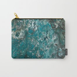 Ocean View, abstract poured painting Carry-All Pouch