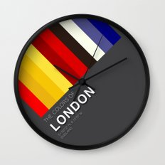 Colors of London Wall Clock