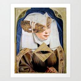 JUNGE FRAU Art Print