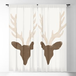 Antler deer  Blackout Curtain