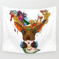 elk Wall Tapestries featuring Elk by aileencopyright