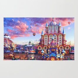 Europe Castle Fairy Tail Rug