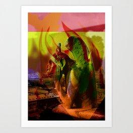 Fire of Notre Dame Art Print
