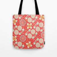 death cab for cutie Tote Bags featuring Cutie by Pink Berry Patterns