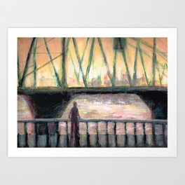 Contemplation Over the Water Art Print