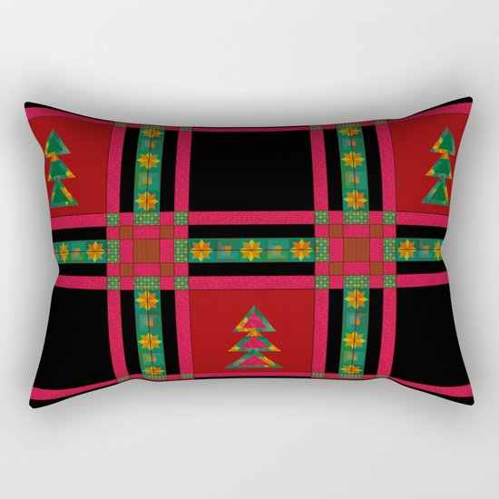 Christmas. Patchwork . Rectangular Pillow