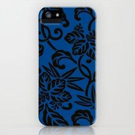 Antique Japanese Pattern : Navy Blue iPhone Case