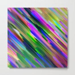 Colorful digital art splashing G487 Metal Print