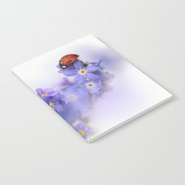 Ladybirds on Forget-me-not Notebook