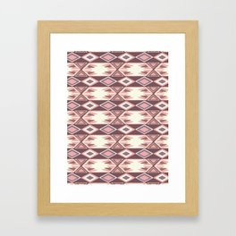 Pink Fall Ikat #society6 #ikat Framed Art Print