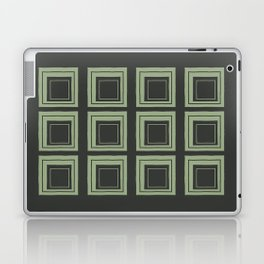 Green Squares Laptop & iPad Skin
