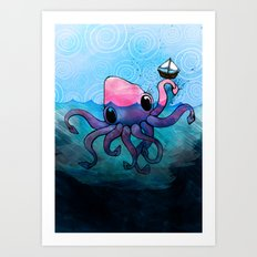 Krakken Art Print