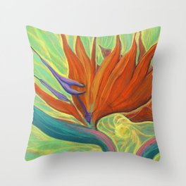 Strelitzia / Bird of Paradise Throw Pillow