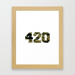 Camo 420 Framed Art Print
