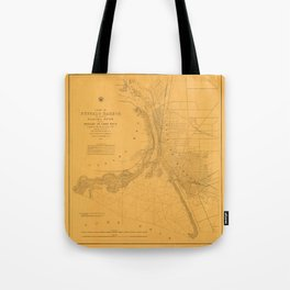 Map of Buffalo 1856 Tote Bag