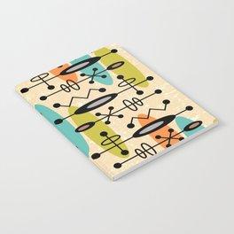 Mid Century Modern Radioactive Surfer 271 Notebook