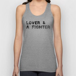 LOVER AND A FIGHTER - ink Unisex Tank Top