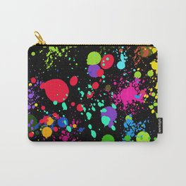 Paint Splatters on Black Carry-All Pouch