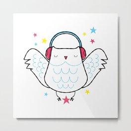 Rawk Owl Metal Print