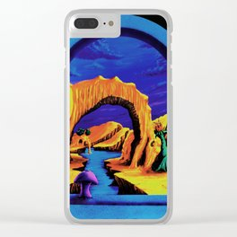Trippy Psychedelic Surreal by Vincent Monaco - Triassic Pond Clear iPhone Case