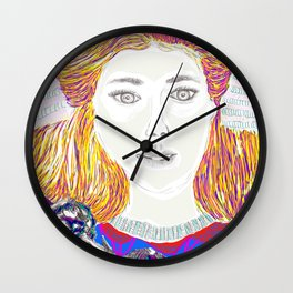 Summer time Lady Wall Clock