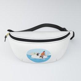 Cute Penguin Lover Pirate Polar Bear Boat Ship Sailor Seaman Pirate Fan Gift Fanny Pack