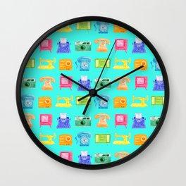 Retro Electronics Wall Clock
