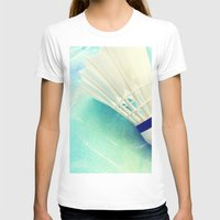 feather T-shirts featuring Feather by Yilan