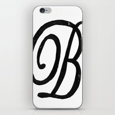 Monogrammed Letter B iPhone & iPod Skin