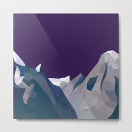 Geo Mountain Range (Part 4) Metal Print