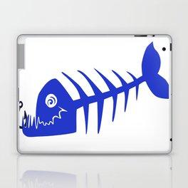 Pirate Bad Fish blue- pezcado Laptop & iPad Skin
