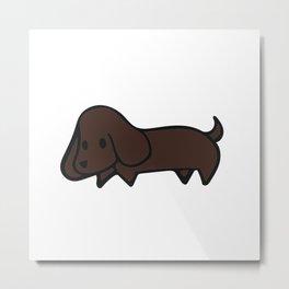 Dachshund Pup Metal Print
