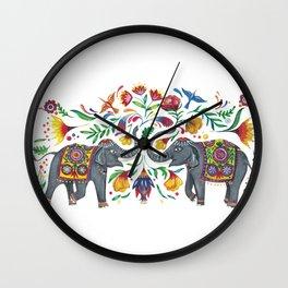 2 Elefanten Wall Clock