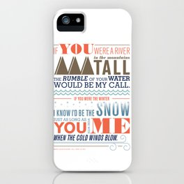 Large – All I Want Is You iPhone Case