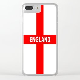 Flag of England Clear iPhone Case