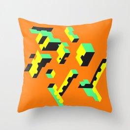 Treat Orange Throw Pillow