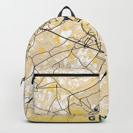 Ghent Yellow City Map Backpack